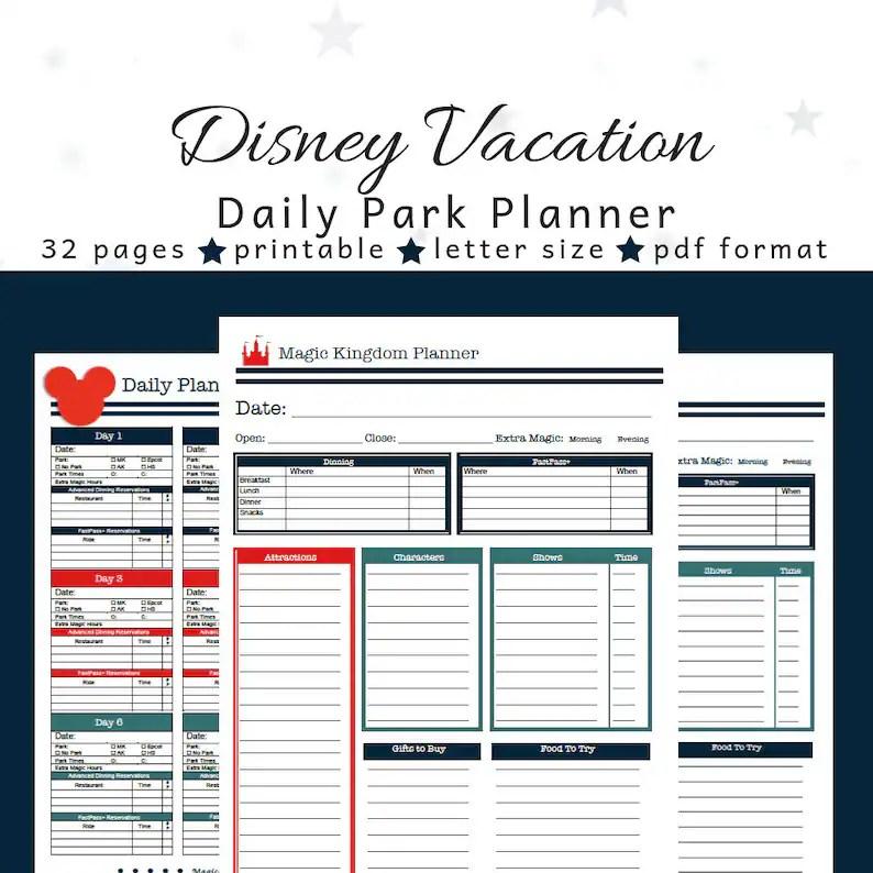Disney World Planner Disney Planner Park Planner for Etsy
