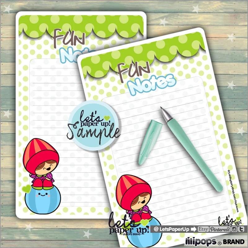 Printable Notes Note Pads Note Sheets Kawaii Notes Etsy