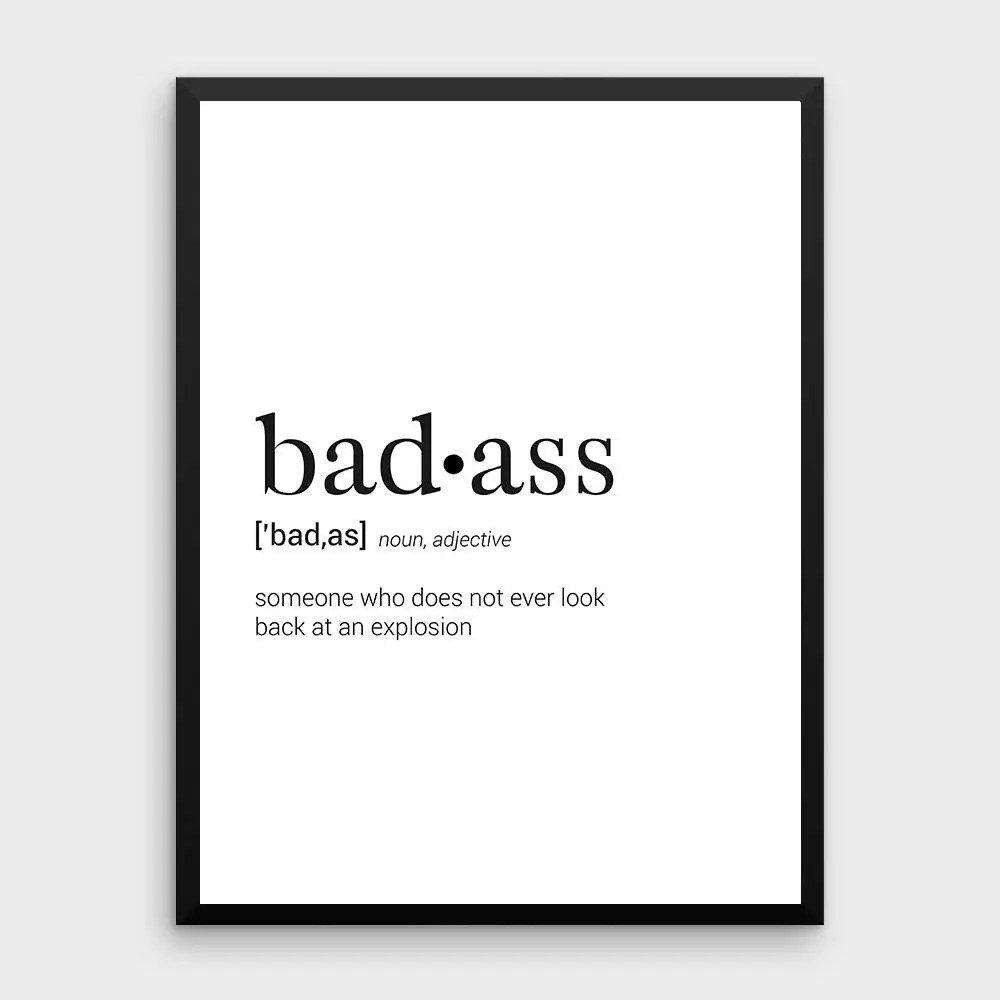 Arte Definition En Espanol Badass Definition Dictionary Art Print Dictionary Art Office Decor Minimalist Poster Funny Definition Print Definition Poster Quotes