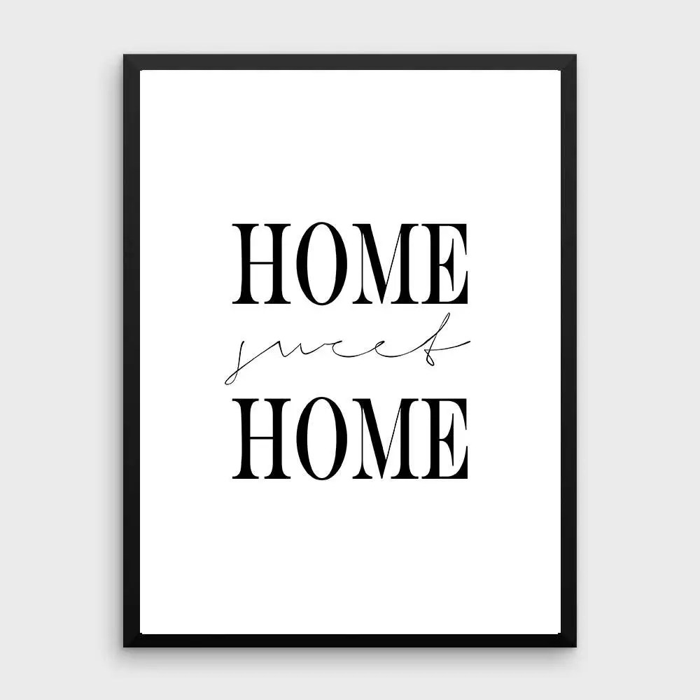 Affiche Scandinave Home Home Sweet Home Print Home Decor Black And White Wall Art Watercolor Art Affiche Scandinave Typography Printable Home Poster Gift