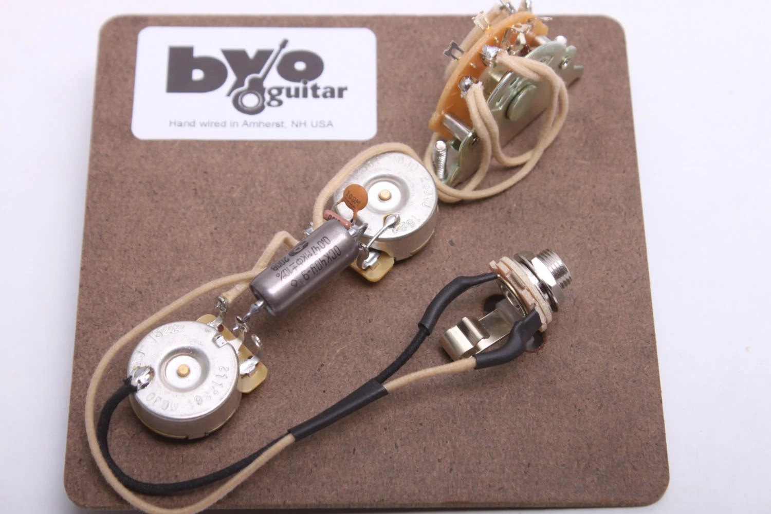 BYOGuitar Hand Wired 3-Way Tele Pre-wired Harness Etsy