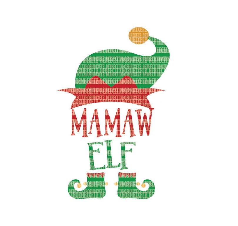 MaMaw Elf Christmas SVG Files for Cricut Design Space and Etsy