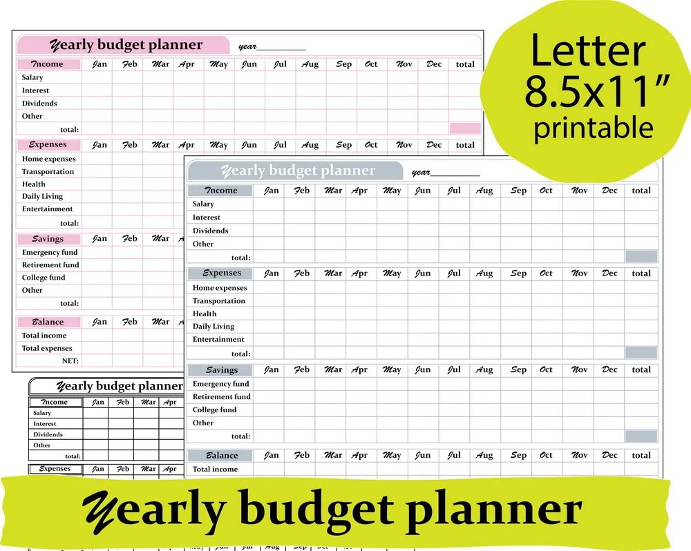Finance and budget planner financial planner budget Etsy