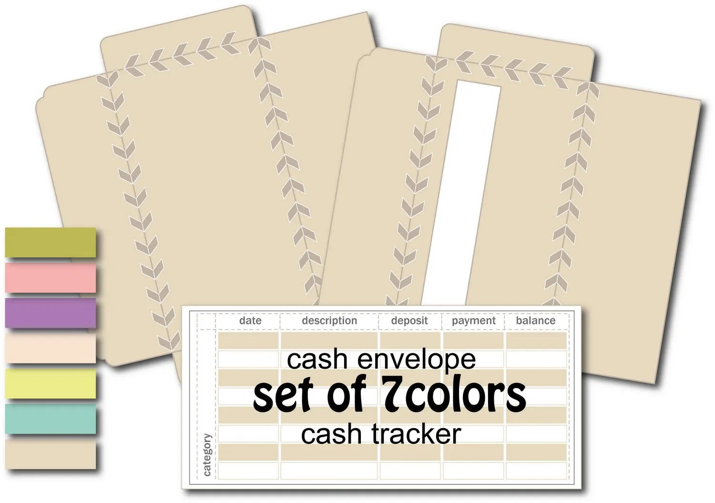 Cash envelope printable money envelope system budget Etsy