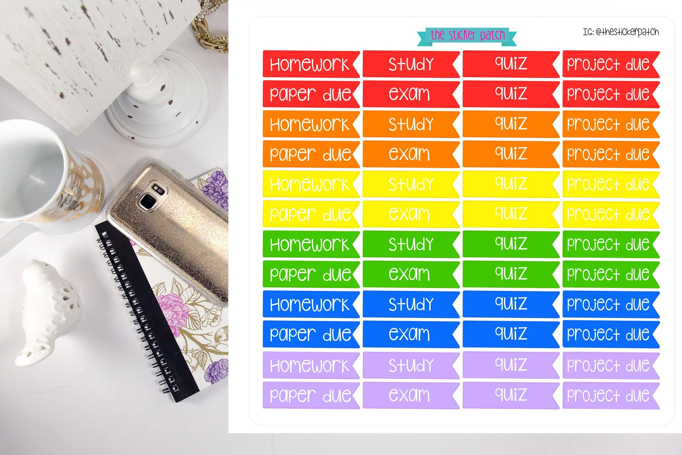 College planner stickers stickers for planners journals Etsy