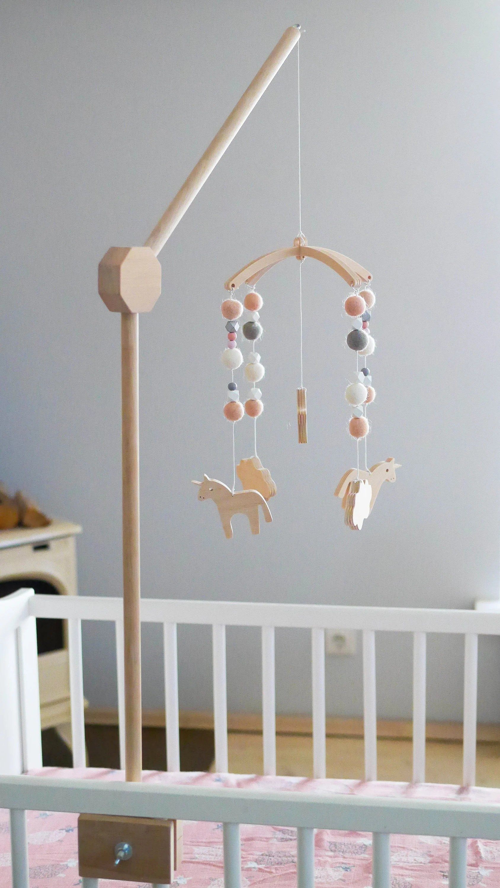 Wooden Baby Mobile Cot Mobile Hanger Baby Mobile Hanger Crib Wooden Mobile Arm Baby Mobile Crib Attachment Mobile Hanger Wooden Stand