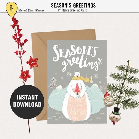 Printable christmas cards 5X7 printable card Printable Etsy