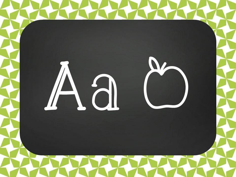 Chalkboard Classroom Decor Kit Green Star Printable Etsy
