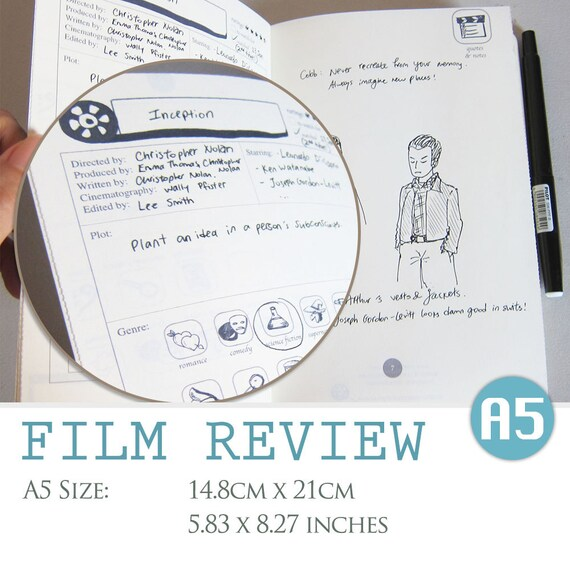 A5 SIZE Film Review Digital Template Movie Critique Etsy