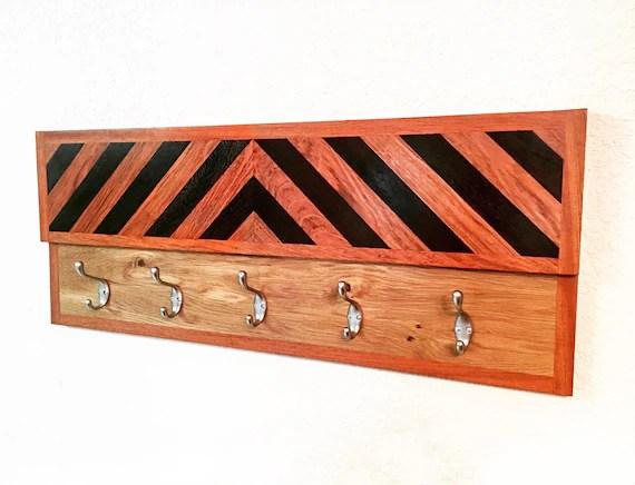 Items Similar To Handcrafted Herringbone Wood Coat Rack