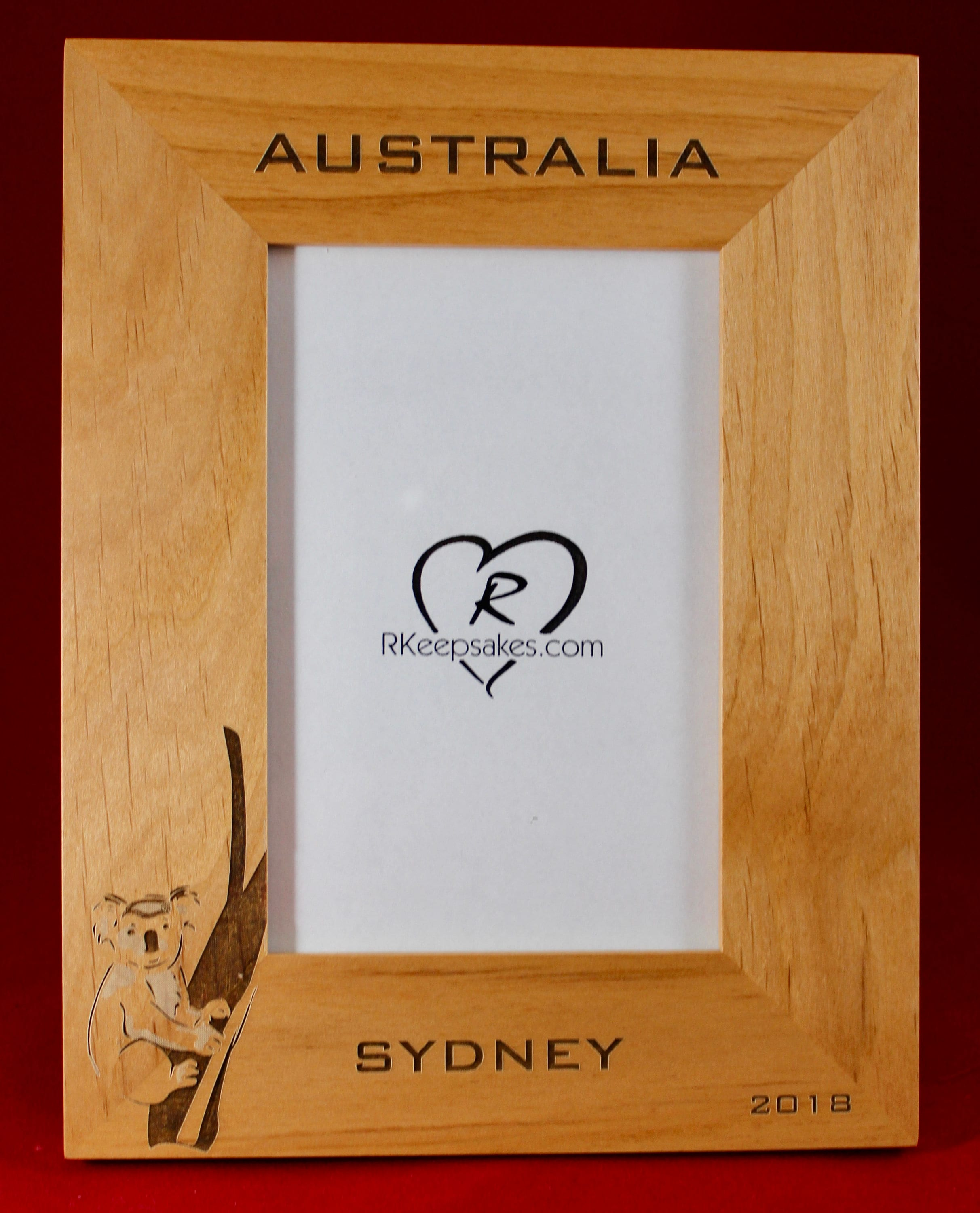 Picture Frames Australia Australia Koala Personalized Engraved Picture Frame Any Text Sydney Personalized Vacation Frame Making Memories Light Or Dark Wood