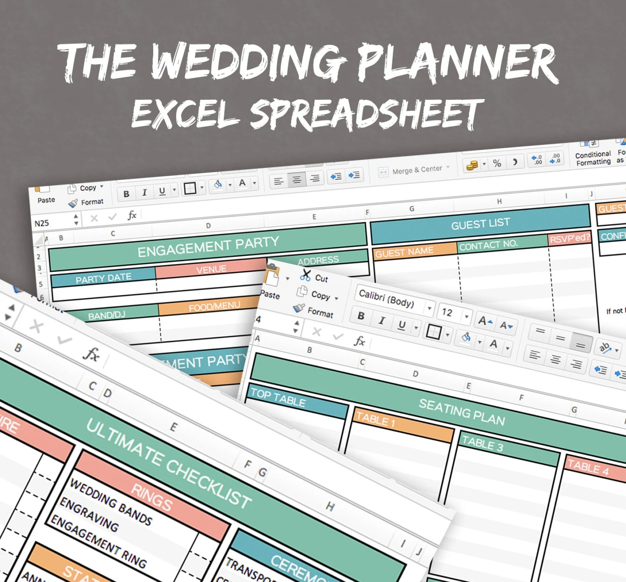 Wedding Planner Spreadsheet, excel wedding planner, organise - wedding planning excel spreadsheet