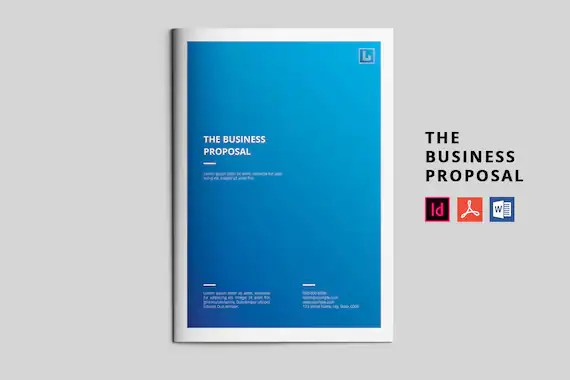 Business Proposal Template Project Proposal InDesign  MS Etsy