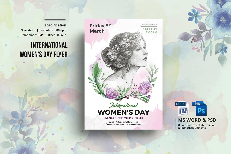 Women\u0027s Day Flyer International Womens Day Party Etsy