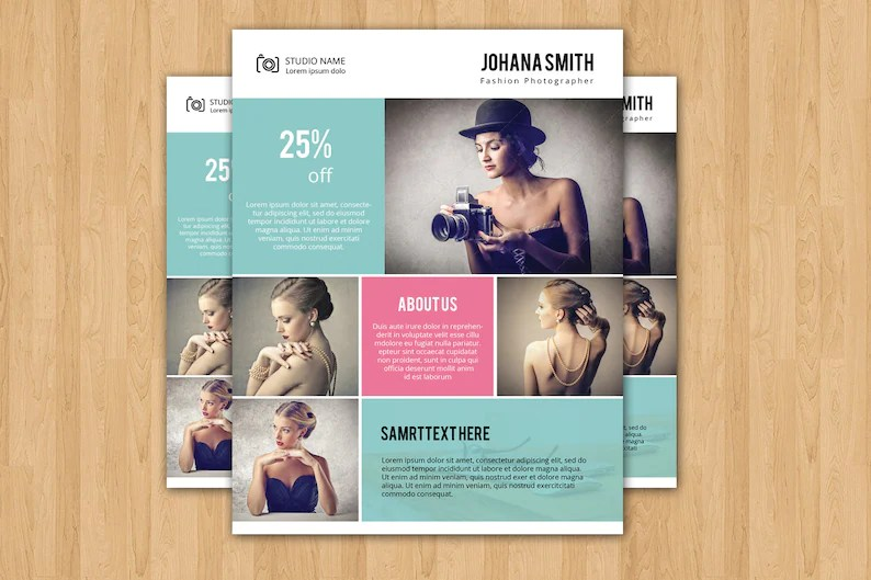 Photography Flyer Template Elegant Promotional Flyer for Etsy