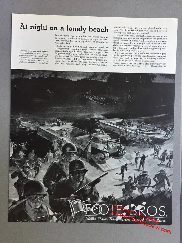 1943 Foote Bros Gear and Machine Corporation Print Ad Etsy