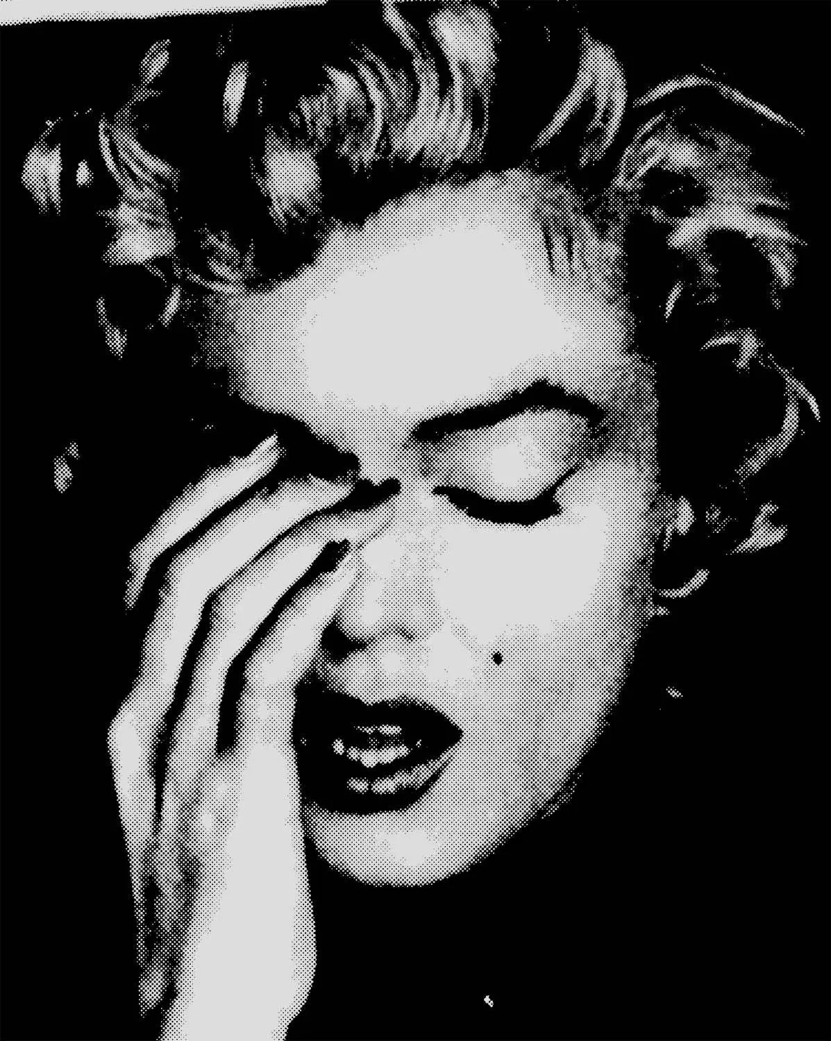 Art Marilyn Marilyn Monroe Photograph Print Poster Photo Pop Art Eyes Closed Shut Hand On Face Sad Cool Wall Decor