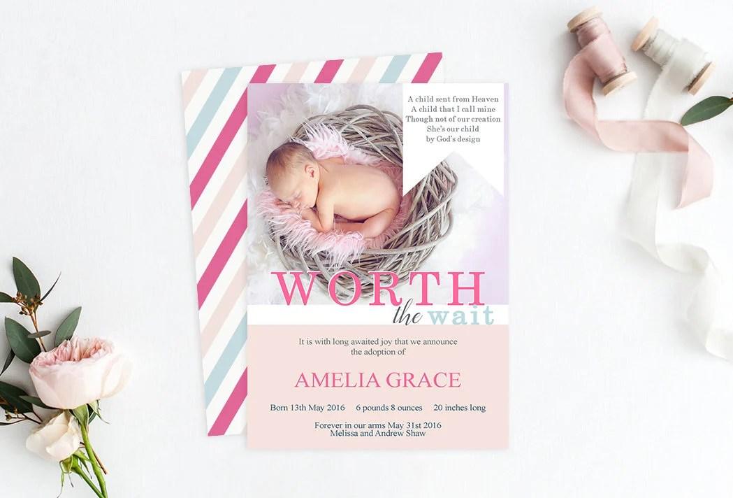 Birth Annoucements - PrettyLittleInvite