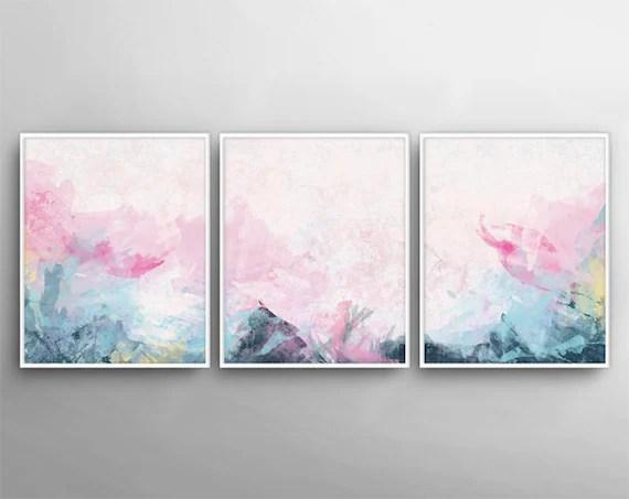 Set of 3 Modern Wall Art Painting Canvas Art 3 Canvas Etsy
