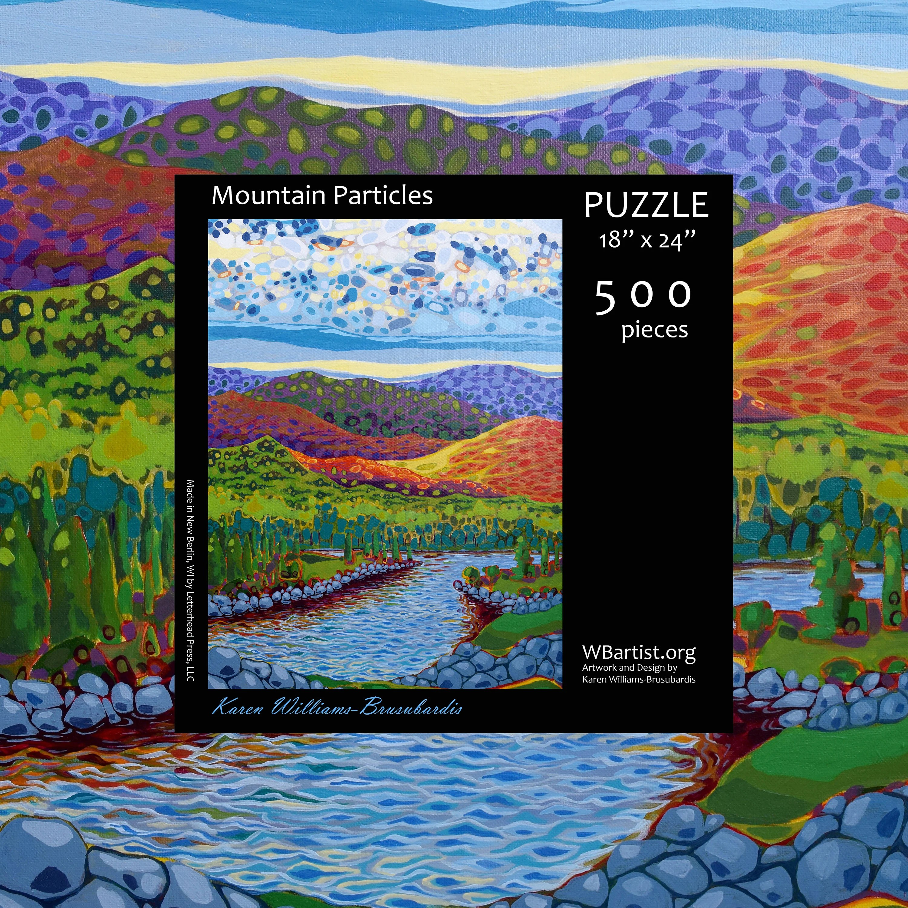 Berlin Puzzle Mountain Particles 500 Piece Jigsaw Puzzle
