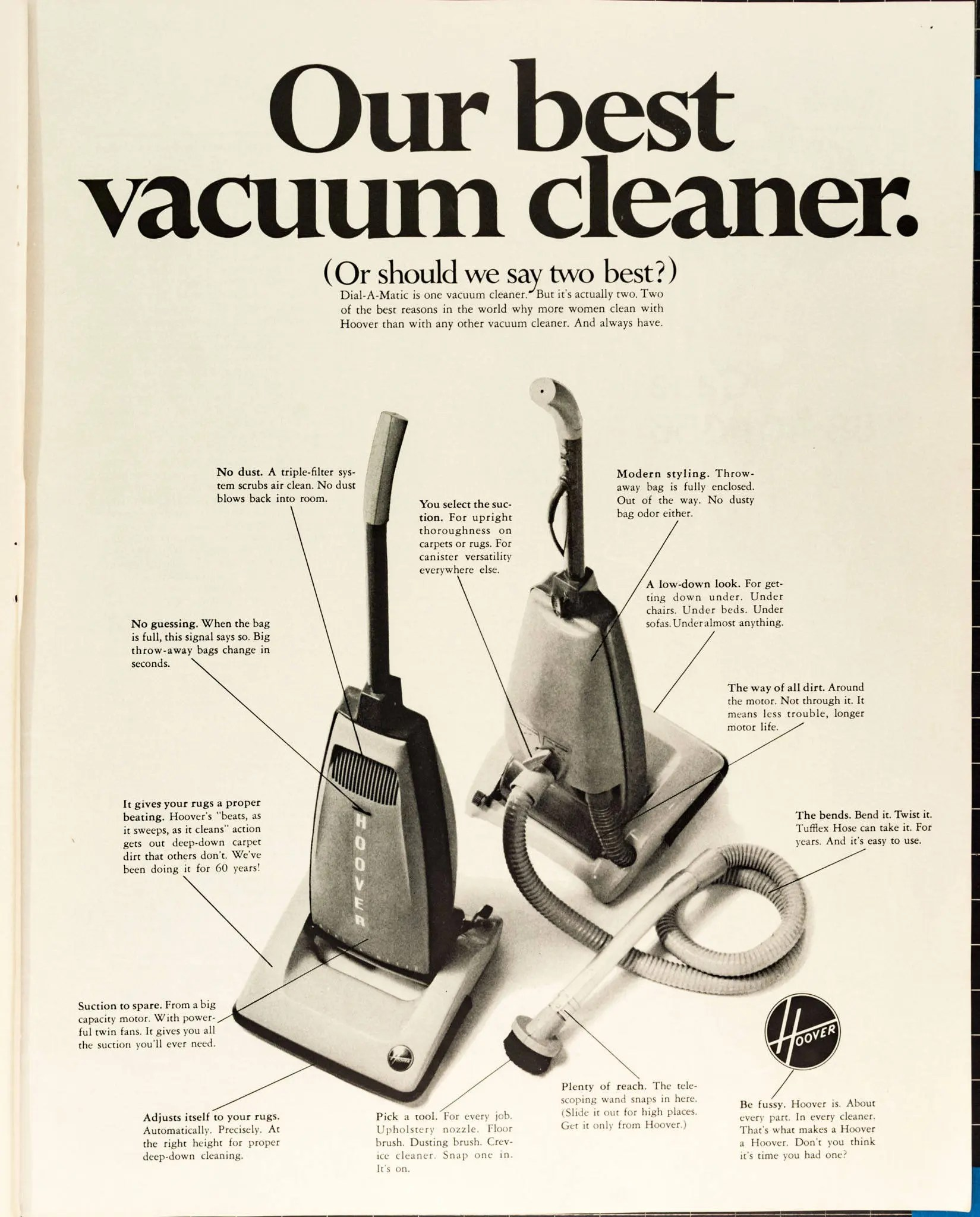 Garage Hoover Vacuum Vintage Hoover Vacuum Cleaner Ad From 1968 Po 68 264