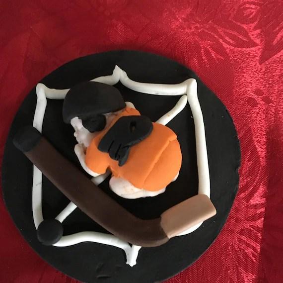 Fondant Baby Hockey Cake Topper / Philadelphia Flyers Etsy