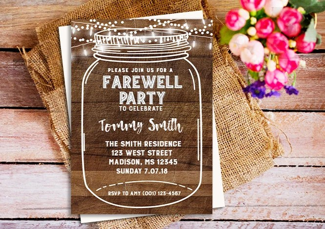 Farewell Party Invitation Farewell Invitation Farewell Party Etsy