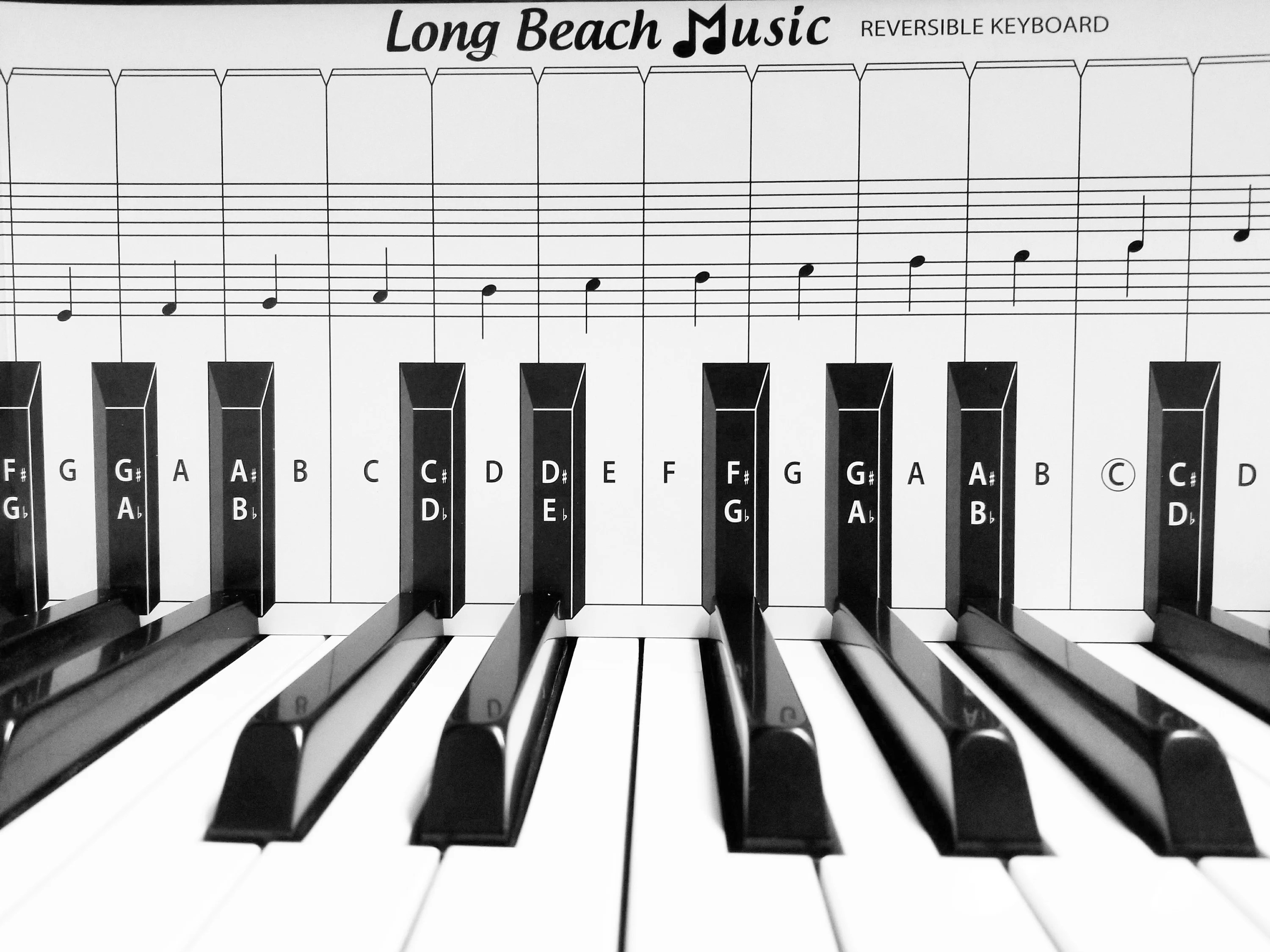 Practice Keyboard  Note Chart for Behind the Piano Keys Etsy