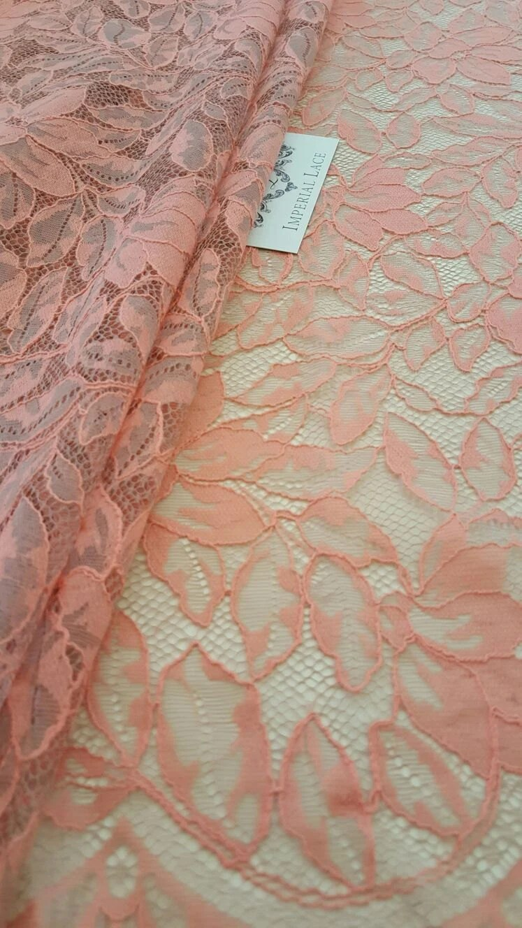 Stoff Spitze Pink With Nude Lace Fabric French Style Spitze Stoff Chantilly Pink Lace Fabric K00305