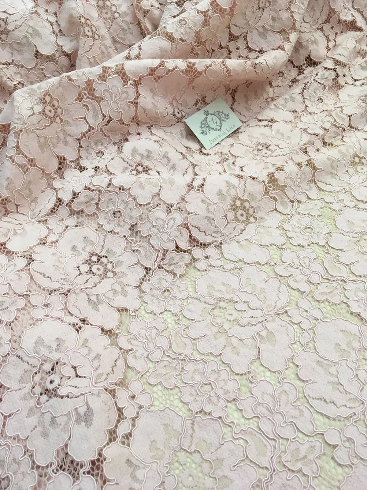Stoff Spitze Light Pink Lace Fabric French Lace Lace Spitze Stoff Salmon Pink Alencon Lace Fabric Spitzen Stoff Pink Lace Fabric K00582