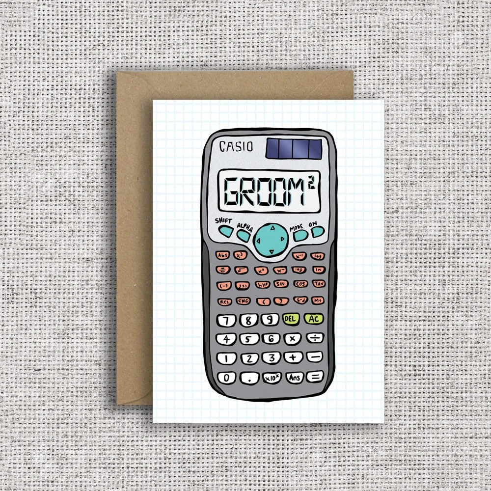 Clever Grooms Card Calculator wedding card civil Etsy