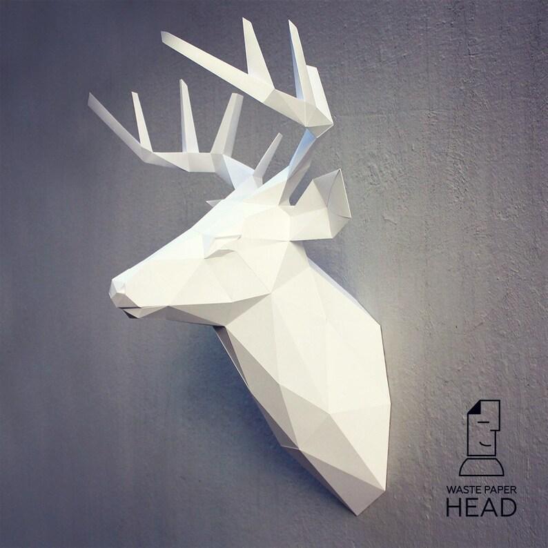 19 papercraft deer head 3 printable digital template Etsy