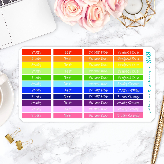 College Planner Stickers / Fits Erin Condren Planners Happy Etsy