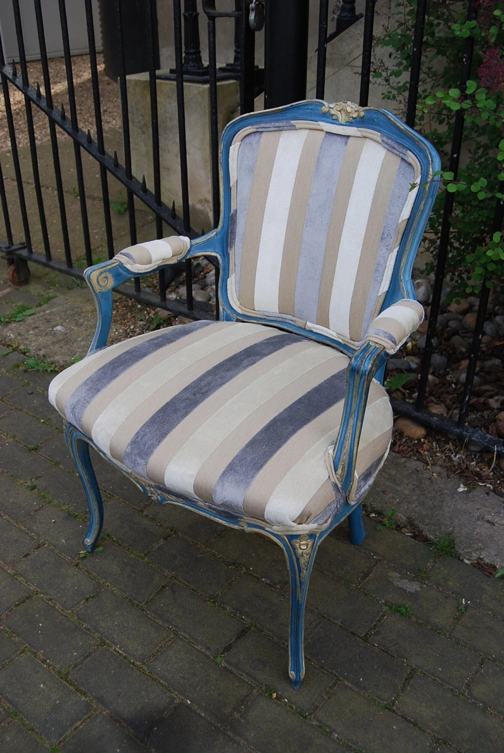 Fauteuil Shabby Chic Gilded Shabby Chic French Louis Xv Style Fauteuil Arm Chair