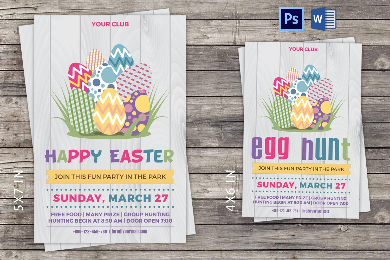 Easter Invitation Card/Flyer Easter Party Invitation Flyer Etsy - microsoft word easter egg