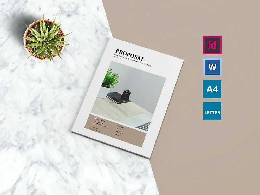 Business Proposal Indesign  Microsoft Word Template Etsy