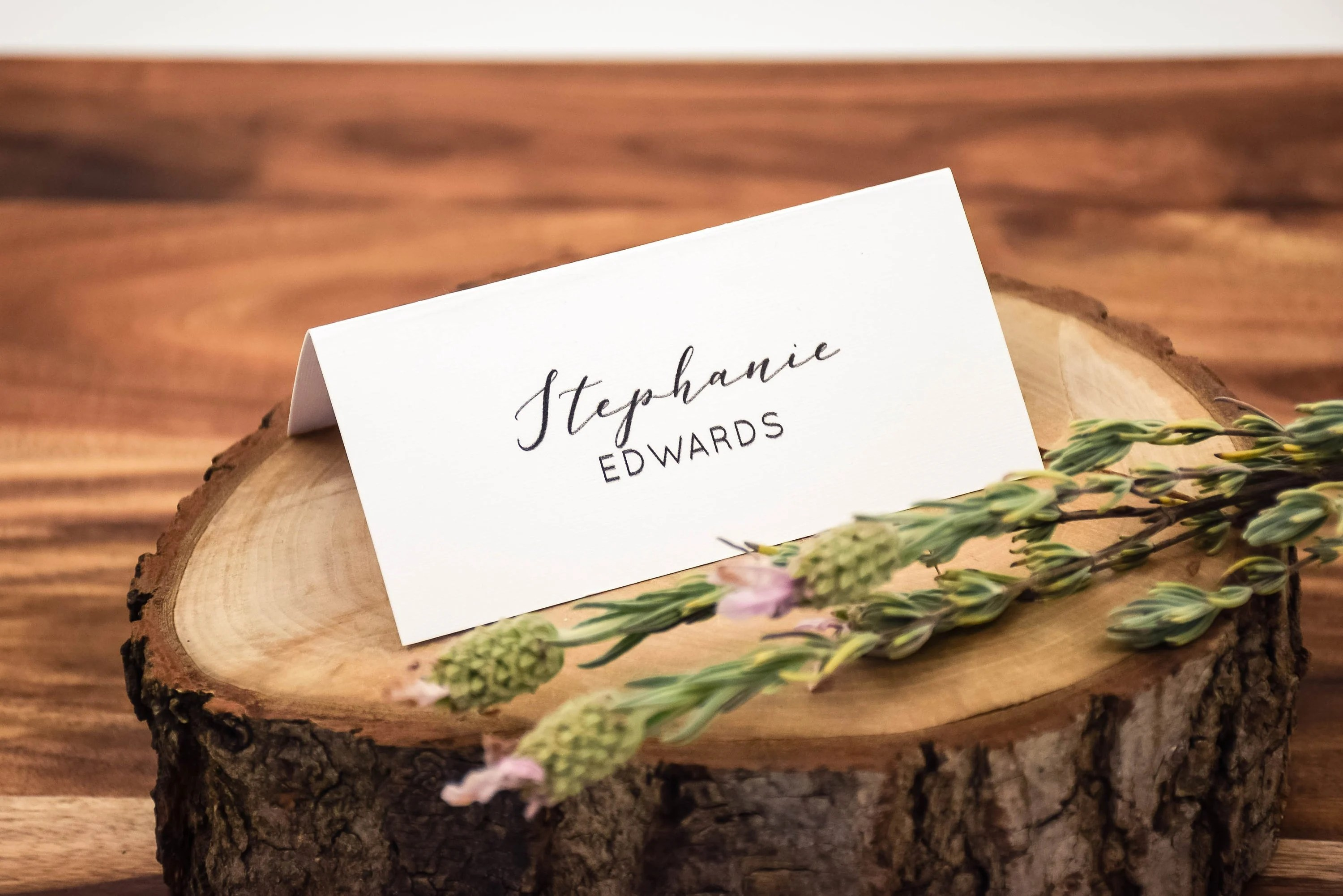 Place Cards Wedding Fold-over Placecards Modern Minimalist Etsy