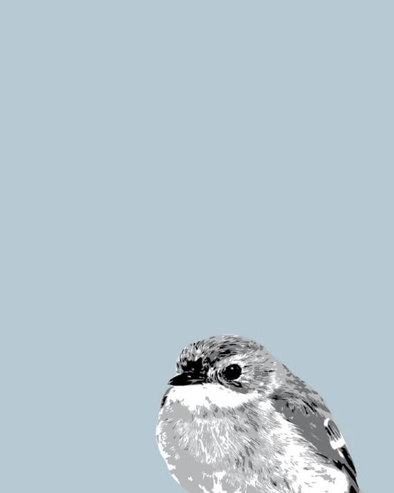 Print Bird Cyan Art Blue Bird Printable Wall Art Wall Art Etsy