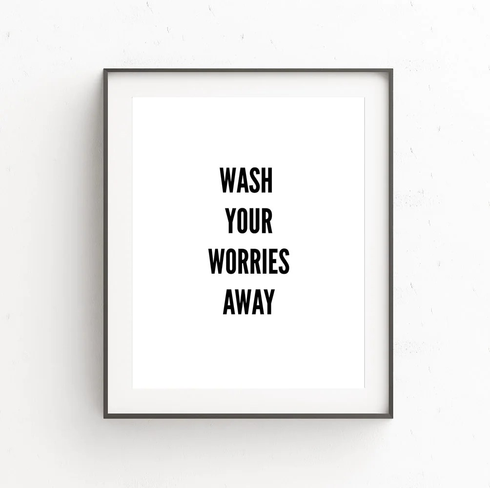 Bathroom Wall Art Decor Bathroom Wall Decor Bathroom Wall Art Bathroom Signs Laundry Room Decor Bathroom Art Kids Wall Art Quote Prints Printable Quotes