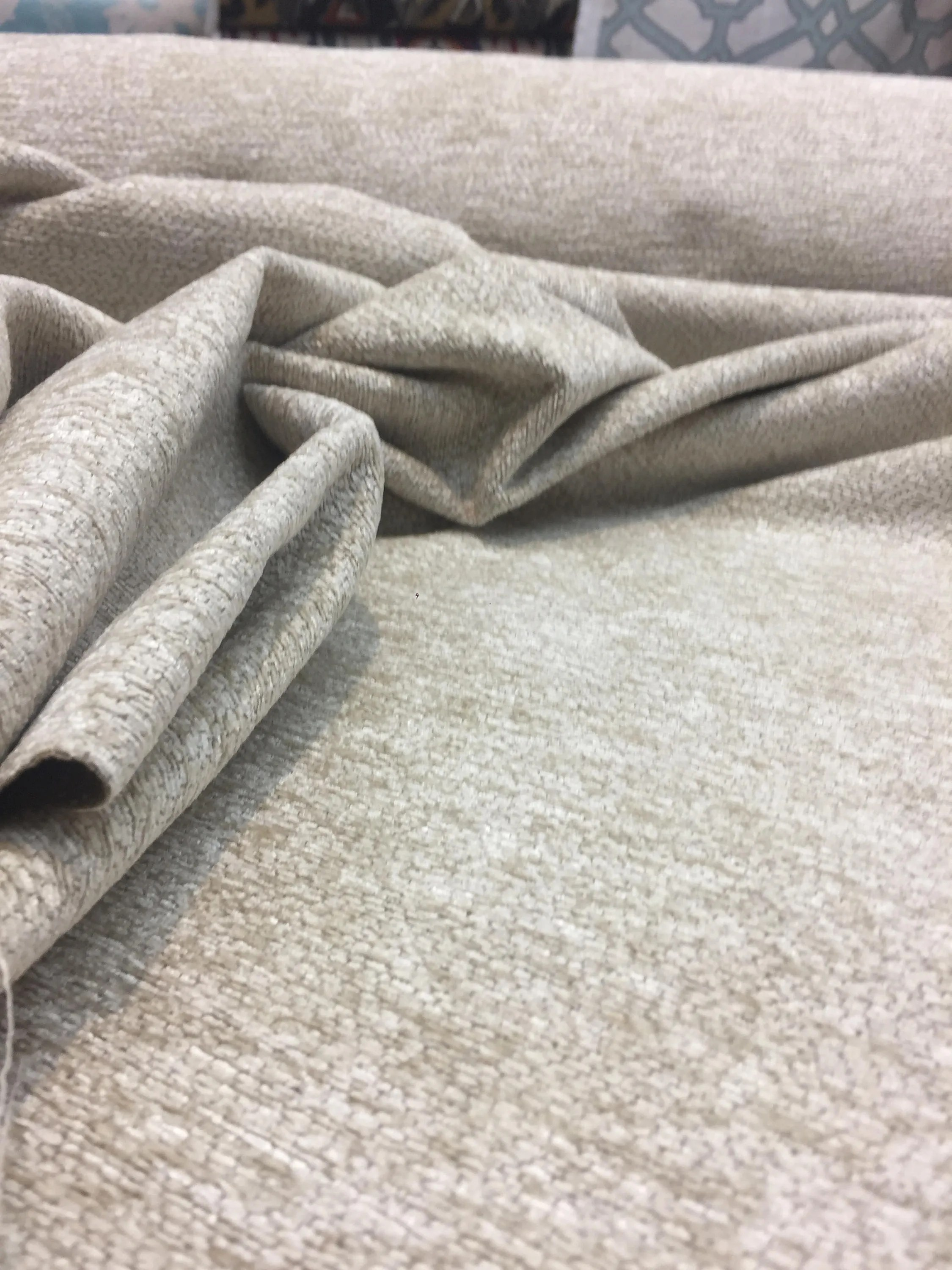 Durable Upholstery Fabric For Sofa Beige Fabric Chenille Upholstery Fabric By The Yard For Couch Pillow Sofa Multipurpose