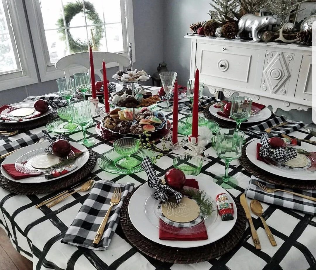 Christmas Tablecloths Australia Windowpane Tablecloth Black And White Tablecloth Wedding