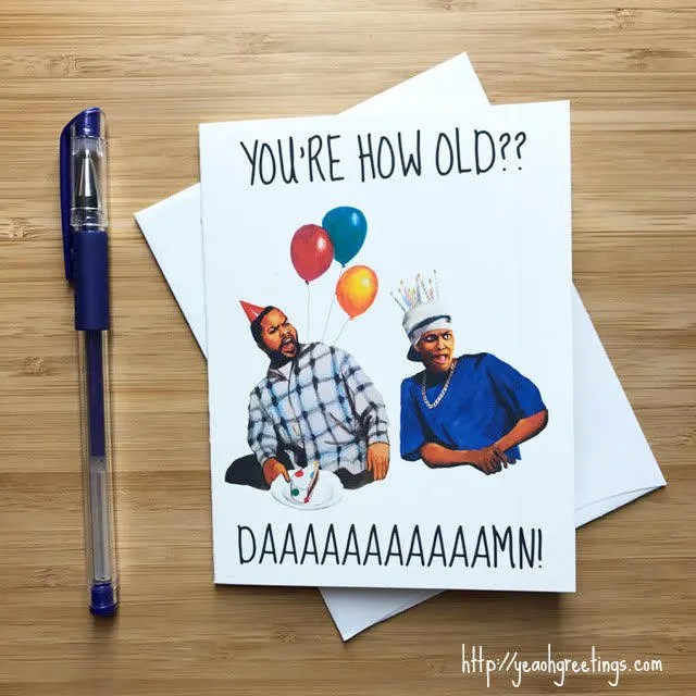 Friday Birthday Card 90s Pop Culture Hip Hop Birthday Card Etsy