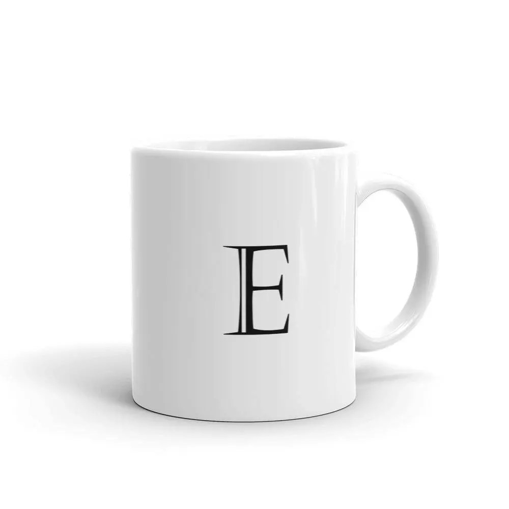 Letter E Block Alphabet Initial Mug made in the USA Etsy