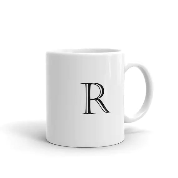 Letter R Block Alphabet Initial Mug made in the USA Etsy