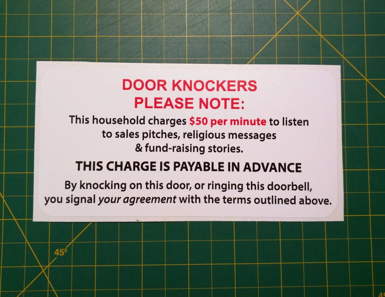 Where To Buy Door Knockers Sale Door Knocker Warning Sticker Weatherproof No Etsy