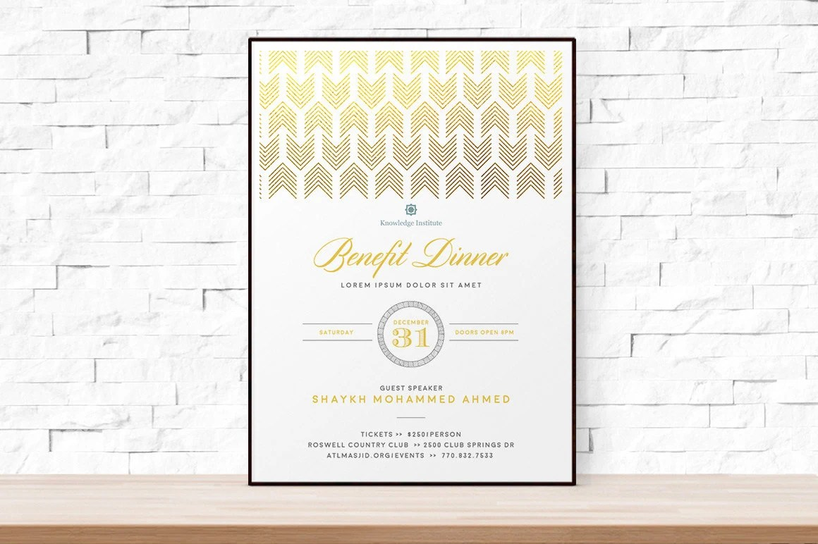 DIY Printable Event Flyer Template Formal Gala Invitation Etsy