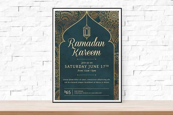 DIY Printable Ramadan Event Flyer Template Word Flyer Etsy