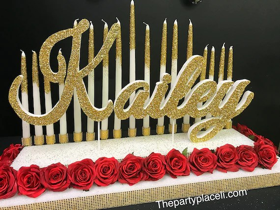 Sweet 16 Candelabra Beauty And The Beast Or Alice In Etsy