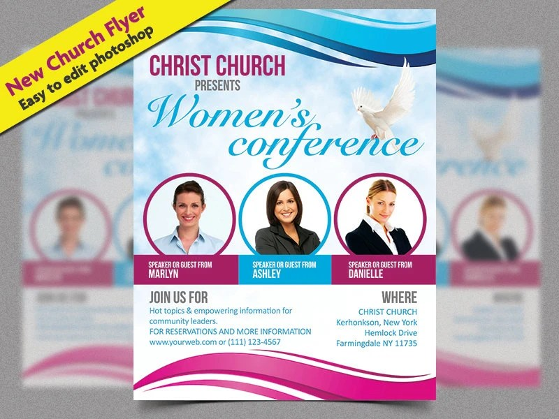 Christian Flyer Church event flyer church marketing art of Etsy