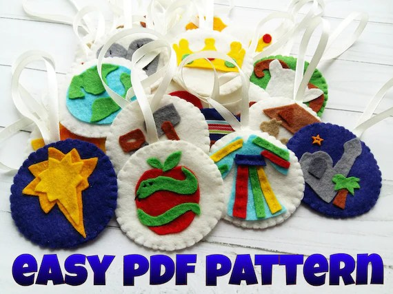 PDF pattern Jesse Tree Ornaments Templates for Jesse Tree Etsy